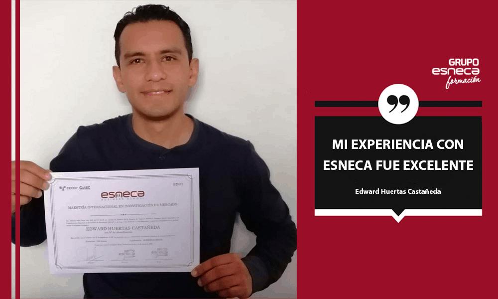 Edward Huertas: «Mi experiencia con Esneca fue excelente»